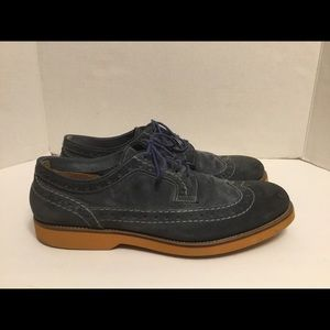Doucal's Suede Leather Wingtip Loafer Blue Sz 8.5